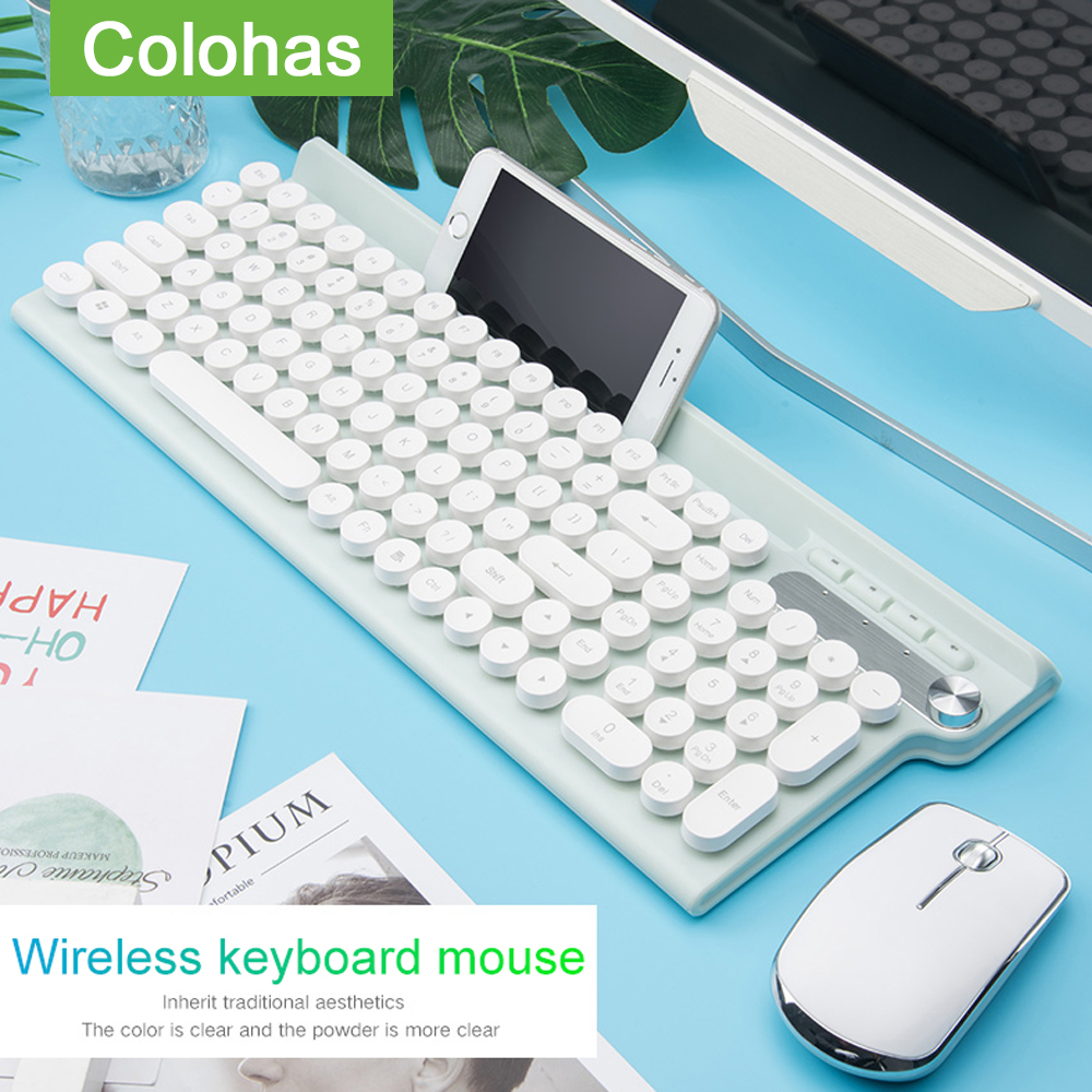 2.4G USB Wireless Keyboard Mouse Rechargeable Keyboard Mouse For Macbook Asus Dell Laptop Keypad Computer Keyboard Mice(China)