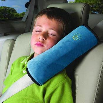 Car Seat Belt Shoulder Pillow Child Car Safety Pillow Suede Soft Sleep Pillow image