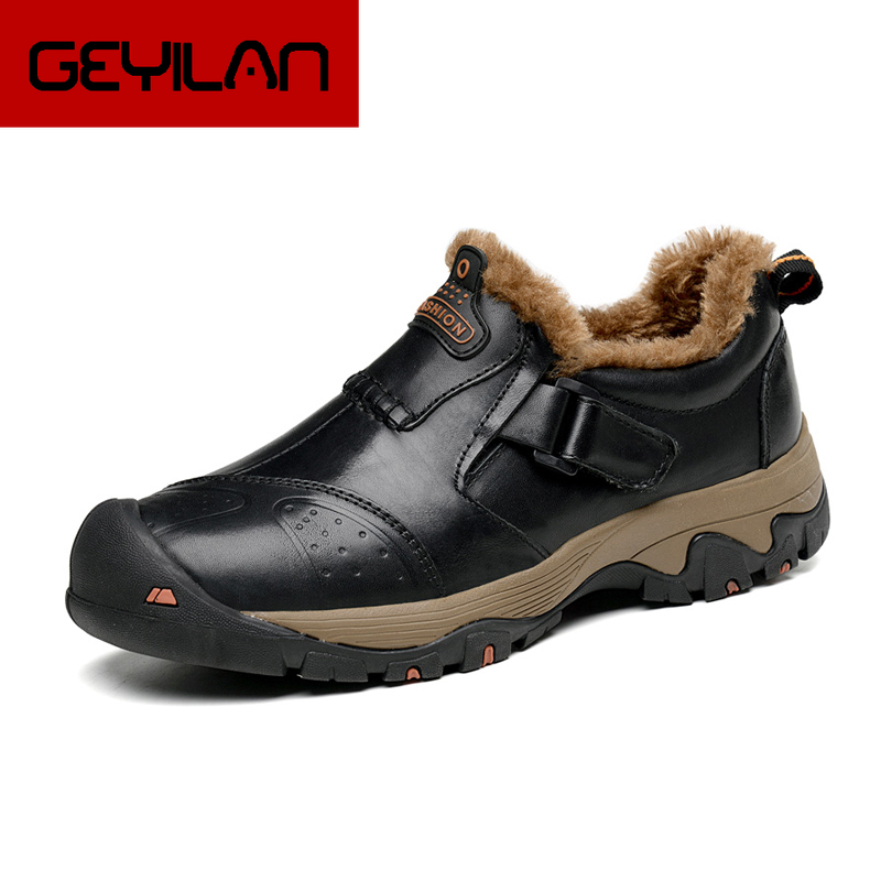 New Men hiking casual shoes Big size Autumn/winter Outdoor hiking man shoes Genuine Leather male leisure shoes   0201