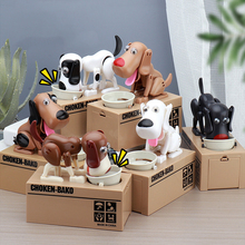 New Creative Savings Fun Eating Money Dog Piggy Bank Children Toys Birthday Gift cheap 8-11 Years Unisex Plastic Dogs electronic Electronic Pets
