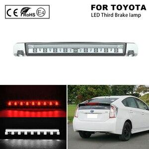 Image 1 - 2 IN 1 çok fonksiyonlu LED üçüncü fren lambası (kırmızı) + LED çalışan ışık (beyaz) Toyota Prius hibrid alfa Aqua(C)