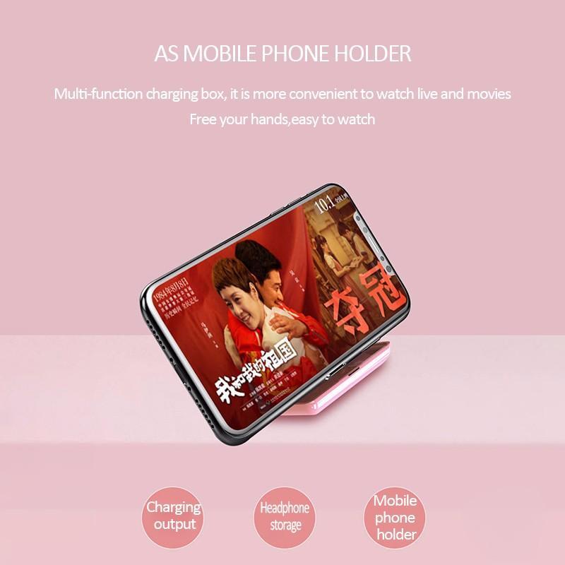 Image 5 - T8 TWS Bluetooth Earphones 2200 mAh Power Bank Display LED Wireless Earbuds Pink Black White Skin Color Earpice Free ShippingPhone Earphones & Headphones   -
