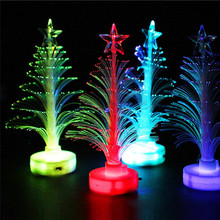 LED Fiber Optic Night Light Colourful Changing Lamp Christmas Tree Star Home Room Lighting Decoration for Holiday Multi-Color