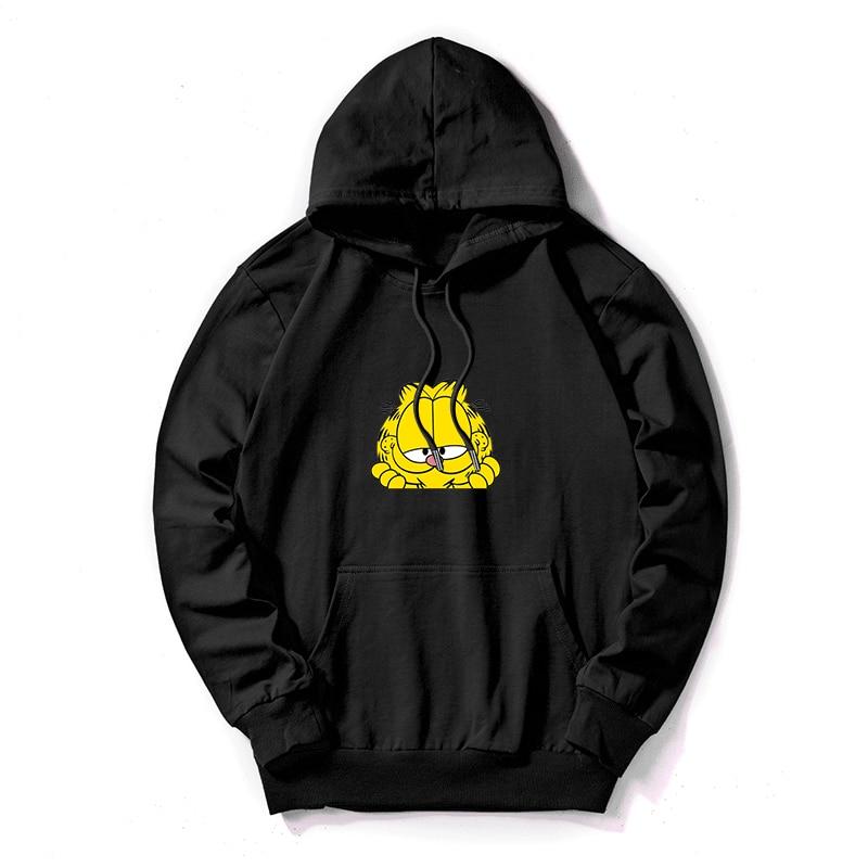 Plus Size Hoodies Autumn Winter Cartoon Print Long Sleeve Pocket Pullover Hoodie Female Casual Warm Hooded Sweatshirt 2019