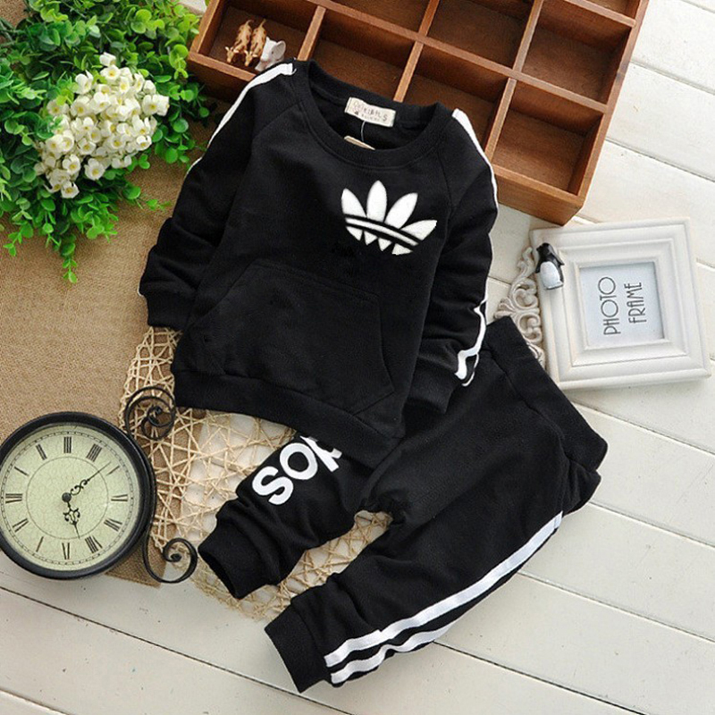 Brand Spring And Autumn Toddler Baby Boy Clothing Casual Set Baby Girl Clothes Children Set Sweatshirt + Sports Pants 2 Piece