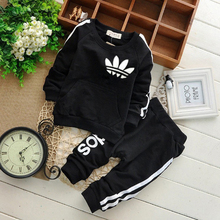 цена на Brand Spring and Autumn Toddler Baby Boy Clothing Casual Set Baby Girl Clothes Children Set Sweatshirt + Sports Pants 2 Piece