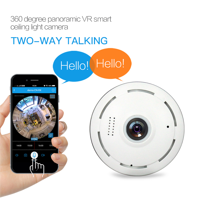 Image 3 - Amorvue Wifi IP Camera 360 Degree Fisheye Lens Panoramic Dome Camera 960P CCTV Night Vision Security Camera Support TF Card-in Surveillance Cameras from Security & Protection