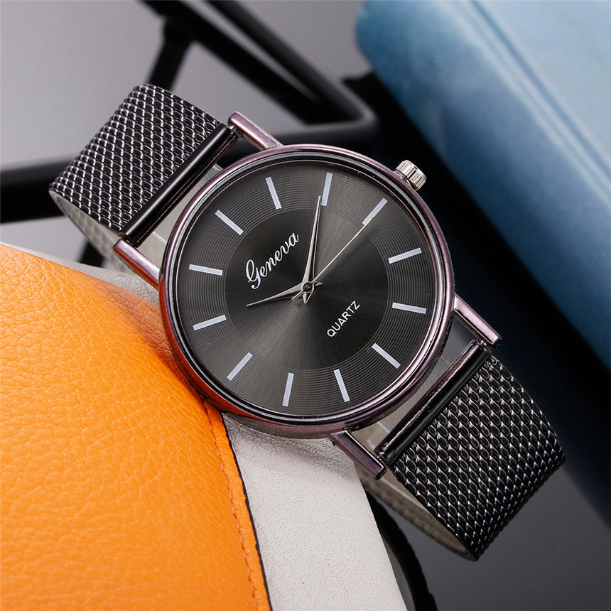 Women Watch Plastic Dress Watch Quartz Watch Woman's High-end Blue Glass Life Wrist Watches Reloj Mujer D30