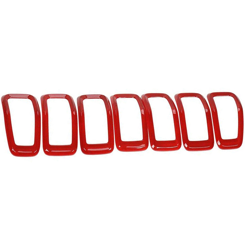 Creative 7 Pcs Front Grill Inserts Grille Cover Frame Trims For 2014-2018 Jeep Cherokee Factory Direct Selling Price