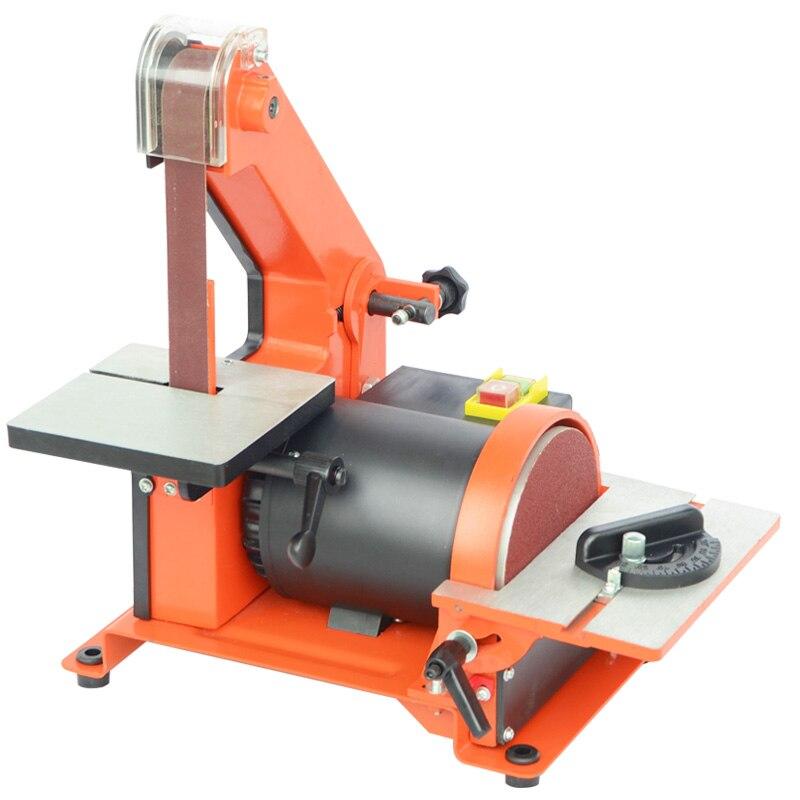 Table Belt Sander Metal Grinding Polisher Sanding Machine Woodworking Copper Motor Knife Grinder Chamfering Machine Random Color