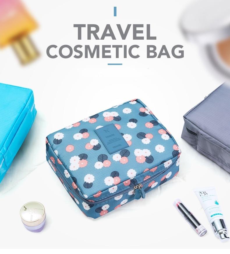 Portable Makeup Cosmetic Case Organizer