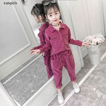 цена на New Autumn Girls Clothing Sets Children Long Sleeved Top +pants 2pc Baby Casual Outfits Kids Costume Girl Clothes Suits