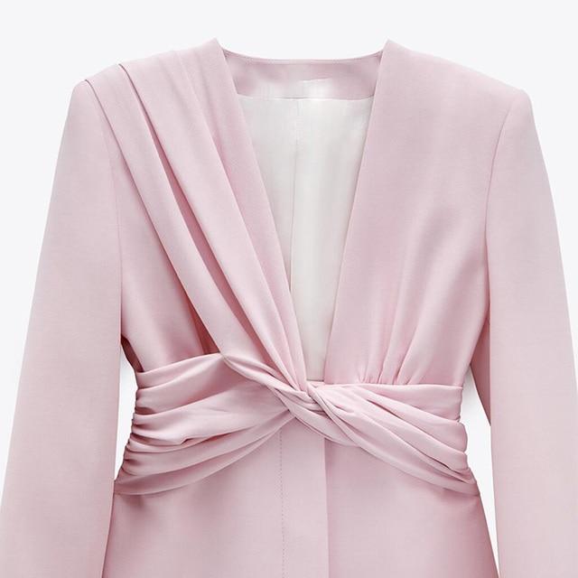 CP Long Sleeve Collected Waisted Dresses Women Fashion Casual V Neck Dress Women Elegant Mini Dresses Female Ladies 6