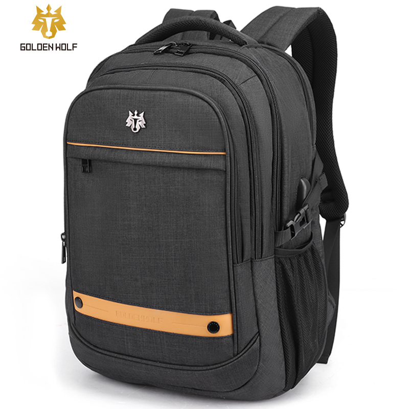 Goloen Wolf Travel Laptop Backpack 18 Inches Usb Charge Teenager School Bag Backbag Leisure Backpack Mochila For Man Women Bags