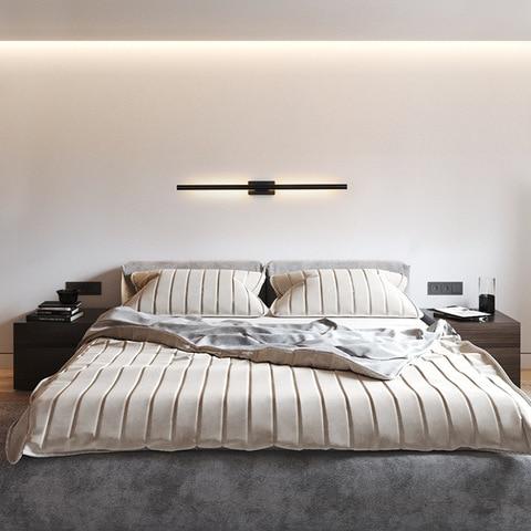 minimalista longa faixa lampadas de parede moderna