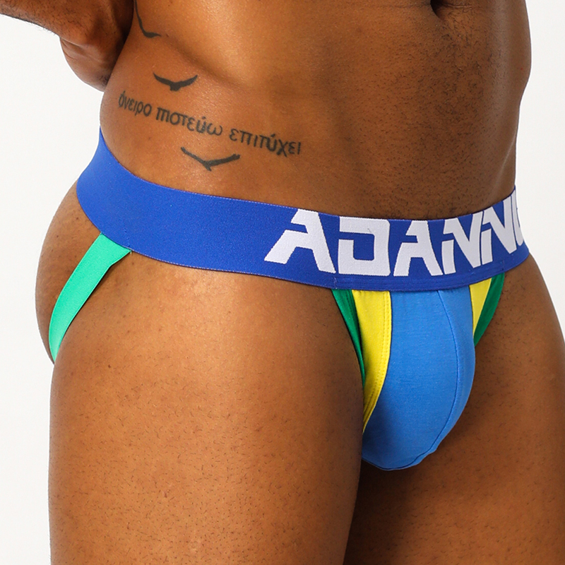 Sexy Gay Underwear Men's Panties Briefs Bikini Underpants Cotton Breathable Cueca Slip Low-rise Sissy String Homme Thong AD14