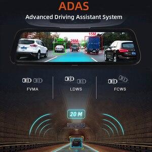 "Image 5 - Bluavido 10"" Car Rearview Mirror 4G Android 8.1 Dash Cam GPS Navigation ADAS FHD 1080P Car Video Camera Recorder DVR Remote view"