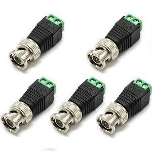 5 шт./лот, разъемы BNC для AHD Камеры CVI, камеры видеонаблюдения, коаксиальные/Cat5/Cat6, металлические кабели