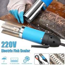 100W wodoodporne elektryczne urządzenie do obierania ryb wodoodporne skalery wędkarskie czyste ryby Remover Cleaner odkamieniacz skrobak narzędzia do owoców morza w Strugarki elektryczne od Narzędzia na