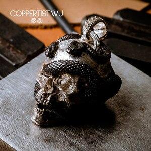 Image 5 - Coppertiste. Pendentif crâne de WU bijoux en argent collier sous forme de serpent, décoration en édition limitée, cadeaux gothiques pour hommes 99 pièces uniquement