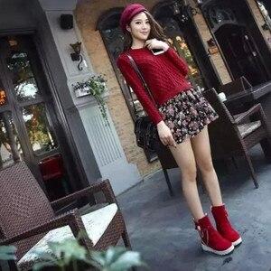 Image 5 - 2020 חורף חדש שלג מגפי נשים של מגפי נשים של צינור מזדמן קשת שלג מגפיים חם קר שריפת רגליים נשים של מגפי כותנה נעליים
