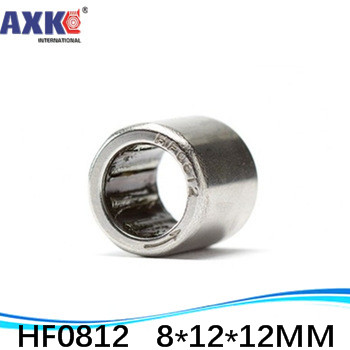 10pcs 8x12x12mm <font><b>HF0812</b></font> One Way Drawn Cup Needle Bearing/clutch Shell Type Inch Bearing AXK Steel Deep Groove image