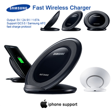 Original Samsung 15W Qi Pad Qi Wireless fast Charger usb QC 3.0 EP-NG930 for iphone8 X Galaxy S20 S10 S9 S8 Plus S7 Edge Note10