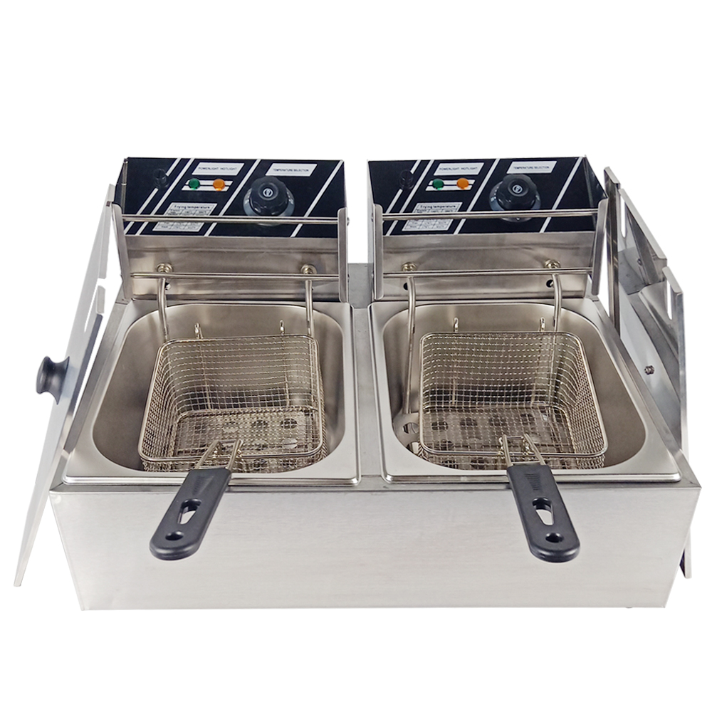 20L Deep Fryer Commercial Use Electric Oil Fat Frying Machine Smokeless Industrial Fryer For Restaurant Kitchen