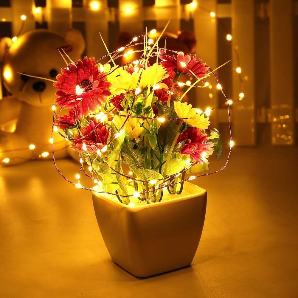 Garland Led String Light 10/20/30 LEDs For Chandelier Flash Lamp Ice Lanter Light LED For Christmas Home Decorations