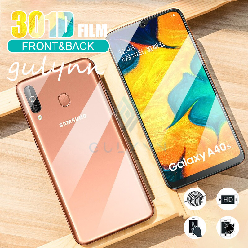 <font><b>300D</b></font> Front + Back Hydrogel Film For Samsung Galaxy S9 S10 Plus Screen Protector For A20 A30 A40 A50 A70 M30S S 2019 Film Cover image