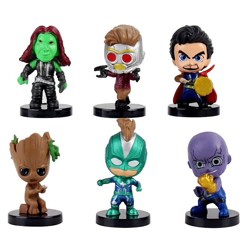 6pcs-set-4-45cm-font-b-avengers-b-font-captain-america-thanos-doctor-strange-star-lord-q-version-pvc-superhero-model-toys