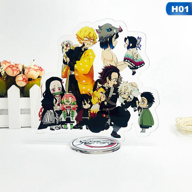 Anime Demon Slayer: Kimetsu No Yaiba Figure Acrylic Stand Figure Model Double-side Nezuko Kagaya Action Figure Pendant Toys