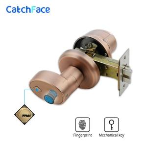 Image 3 - Zinklegering Biometrische Vingerafdruk deurslot beveiliging cilinder deurslot Roestvrij elektronische waterdichte deurslot
