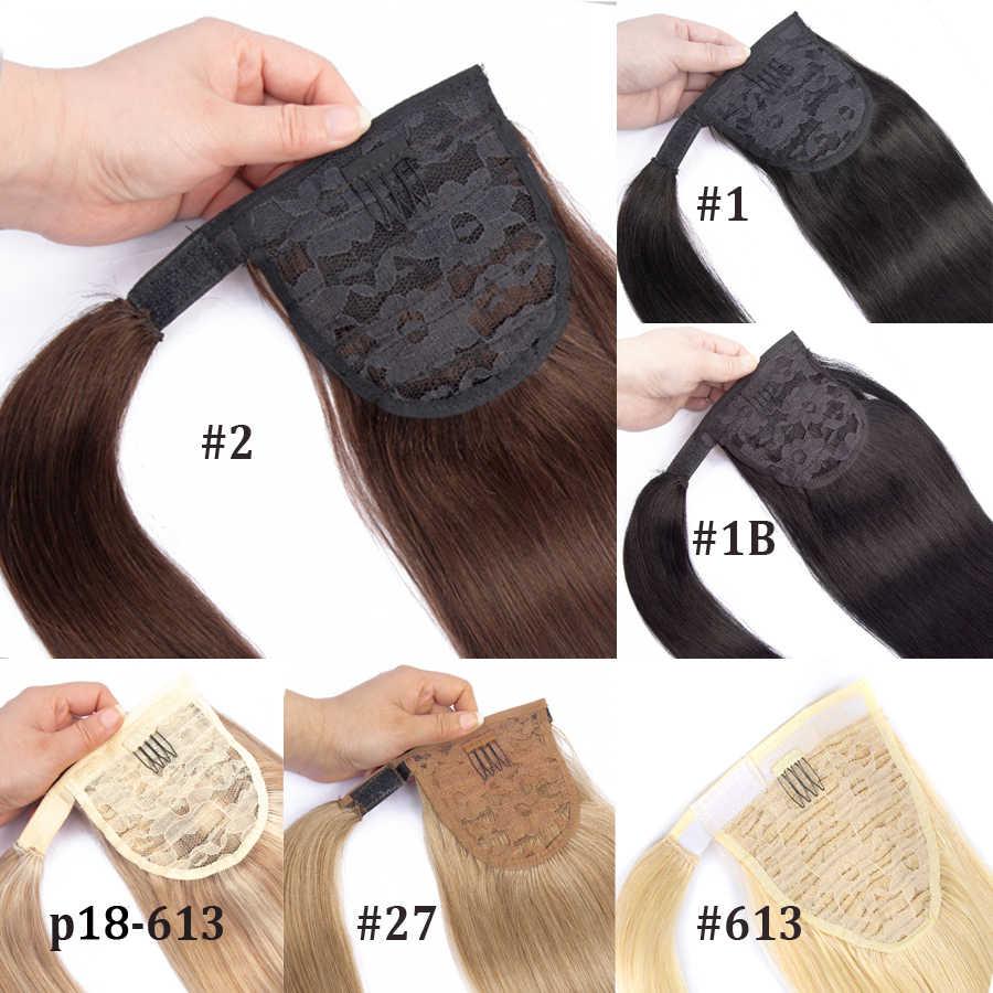 Mrshair Real Natural Human Hair Pony Tail Hair Extension Blond Haar Wrap Paardenstaart Clip In Hairextensions Machine Remy Haarstukje