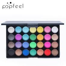 Popfeel 28 цветов матовые тени для век большая палитра мерцающие