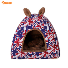 pet cat dog House Foldable Rabbit Puppy kitten Bed Tent with Removable Mattress Warming sleeping Cat Nest small Kennel
