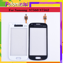 10Pcs/lot For Samsung Galaxy Trend DUOS S7560 S7562 GT-S7562 7562 7560 Touch Screen Panel Sensor Digitizer Front Touchscreen lychee grain style protective abs back case for samsung galaxy trend duos s7562 s7560 white