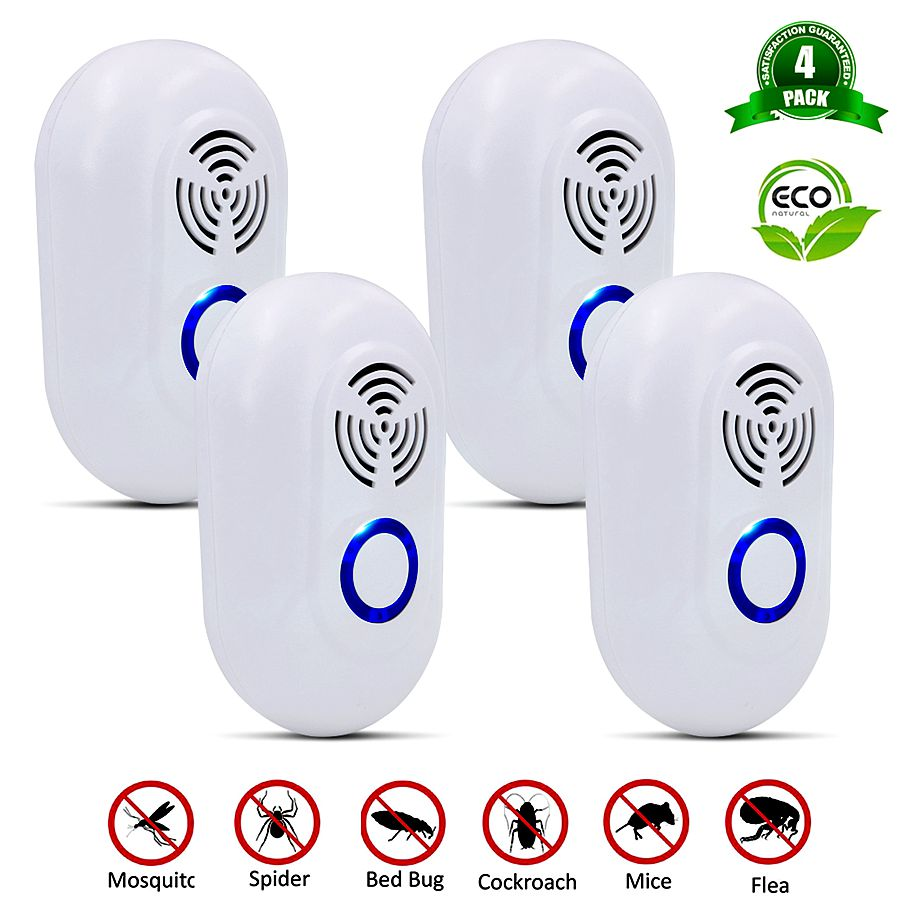 4 Pcs  Frequency Conversion Mosquito Killer Pest Control Repellents Ultrasound Electric Insect Rats Spiders Killer