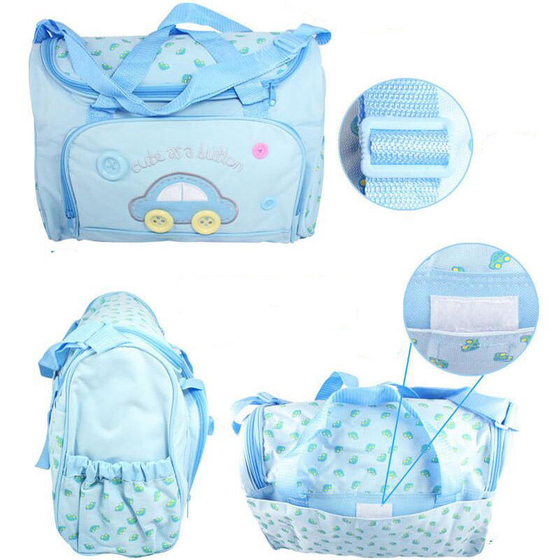 4PCS/set Mother Care Bag Waterproof Large Diaper Bag Organizer For Mummy Handbag Bebe Maternity Trolley Baby Nappy Bag Backpack