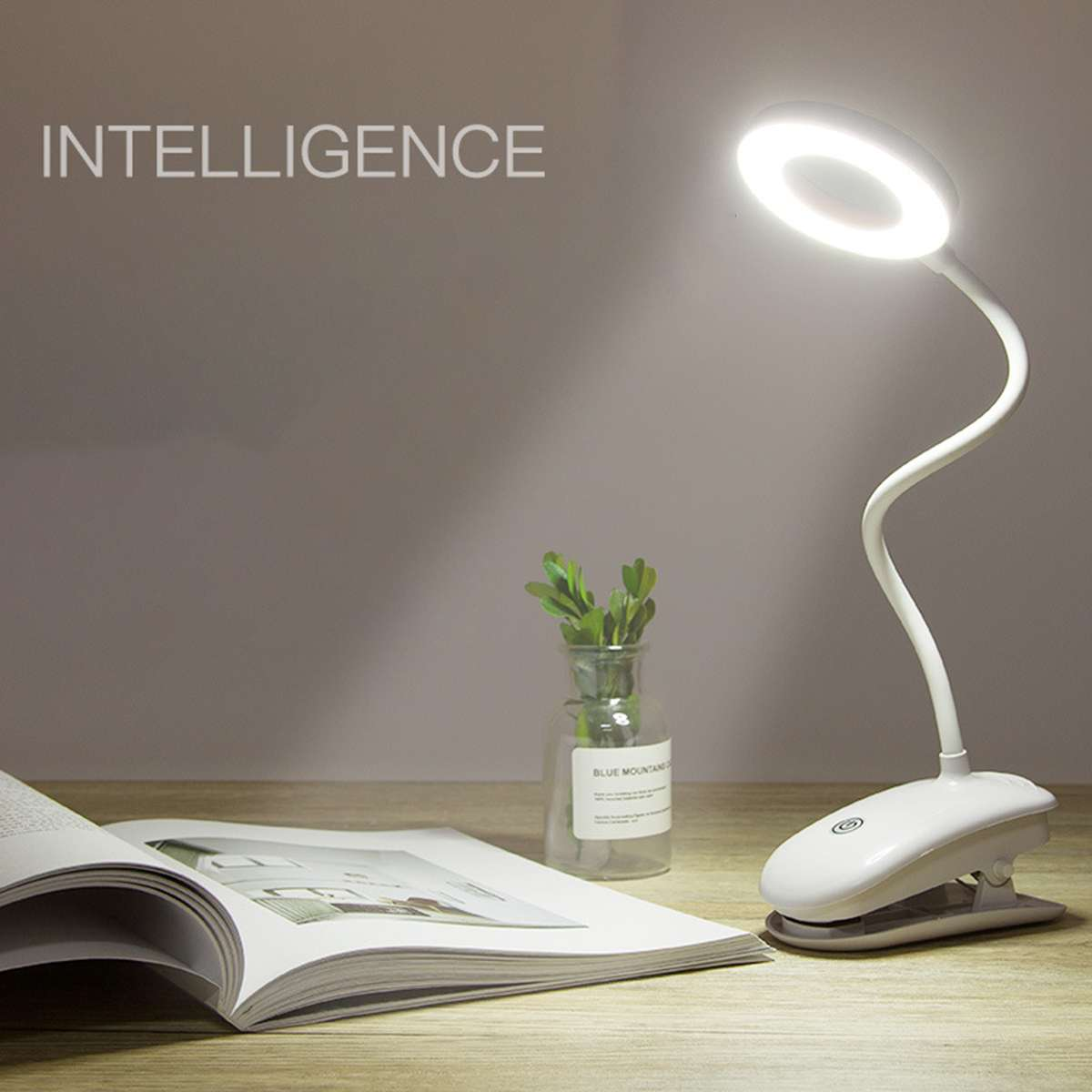 Desk Lamp USB LED Table Lamp Table Touches 3 Modes Portable LED Table Lamp With Clip Bed Reading Book Night Light LED Desk Lamps