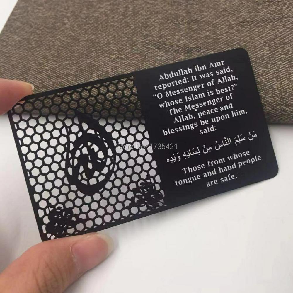 Wholesale Custom Laser Cut Black Stainless Steel Metal Business Card