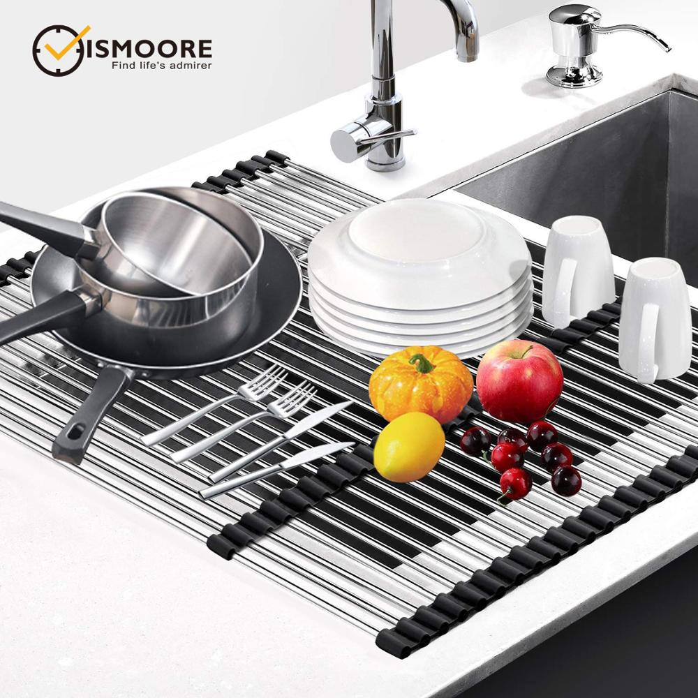 Dish Carrier Drain Rack For Dishes Multifunctional Streachable Easy To Storage