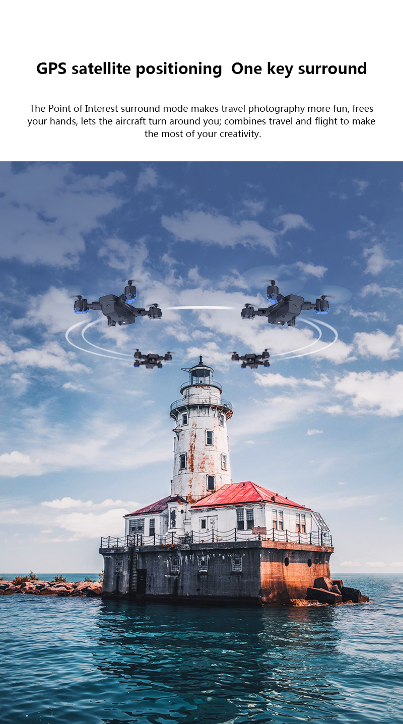 SHAREFUNBAY Drone GPS 5G WIFI and 4K HD wide-angle camera FPV Drone X Pro Quadcopter 20