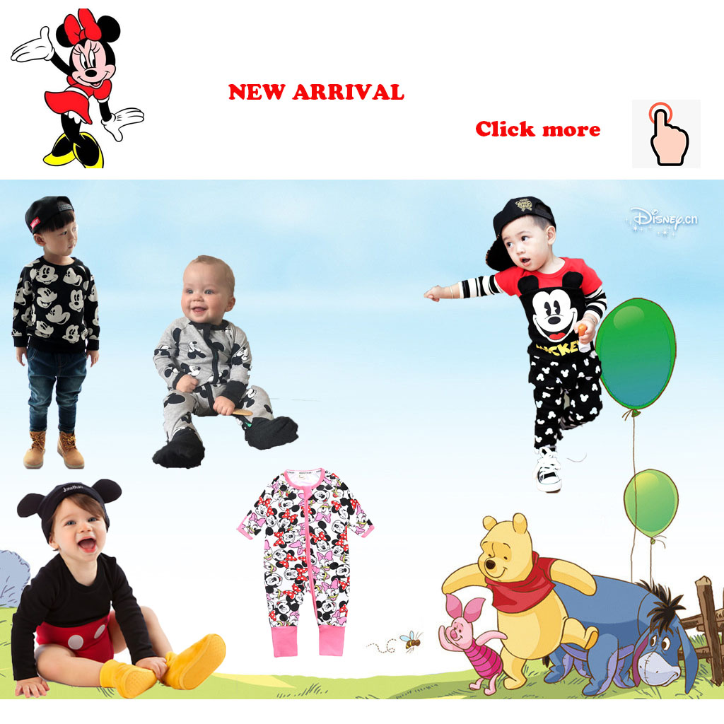He7cb77e142fe4616ab6adcc110d76ac5d Newborn Mickey Baby Rompers Disney Baby Girl Clothes Boy Clothing Roupas Bebe Infant Jumpsuits Outfits Minnie Kids Christmas