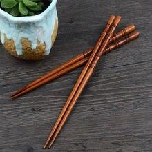 2 pares criativo natural de madeira artesanal pauzinhos presente utensílios de mesa pauzinhos chineses pauzinhos reutilizáveis utensílios de mesa