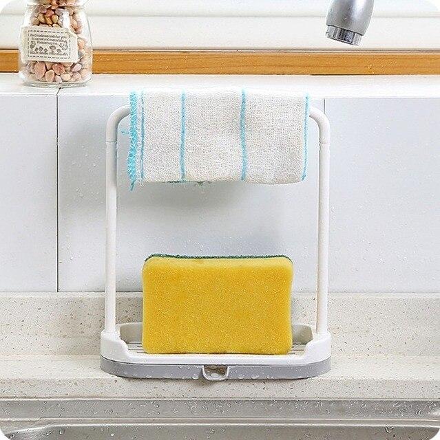 Фото съемная кухонная утварь вешалка для полотенец держатель губок цена