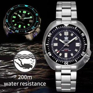 Men's Watch Automatic Mechanical Stainless-Steel STEELDIVE NH35 Japan-C3 Super-Luminous
