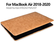 Para apple macbook ar 13 caso capa de couro flip para macbook air 13 caso 2020 a2179 a1932 a2337 portátil