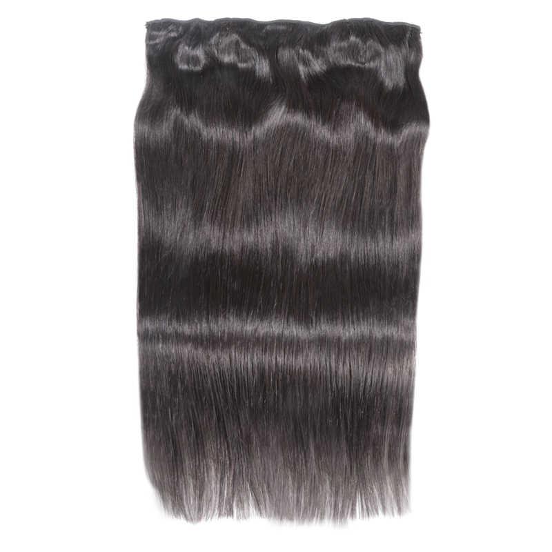 Długie włosy z nakładką do prostowania w doczepy z ludzkich włosów #1 # 1B #4 #8 #613 #27 #32 Remy włosy 5 klipów w 1 sztuka ludzki włos