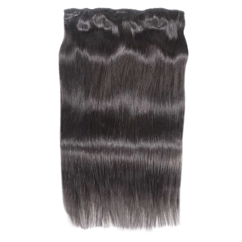 Long  Hair Straight  Clip In Human Hair Extensions #1#1B #4 #8 #613 #27 #32 Remy Hair 5 Clips in 1 piece Human Hair
